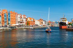 Gdansk. Central embankment. Stock Photos