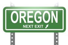 Oregon green sign board isolated - stock illustration
