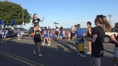 A Group of Young Cheerleaders and Dancers Have Fun at the Clacton Carnival Arkistovideo
