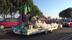Women's Institute Float Inspired by Aladdin Drives Past in the Clacton Carnival Stock Footage