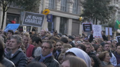 Charlie Hebdo Event In Paris Stock Footage
