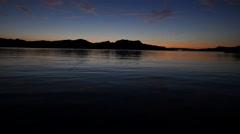 Evening on Shore of Lake Havasu Stock Footage