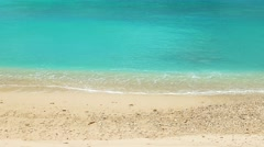 Tropical island beach with turquoise water. 4K resolution - stock footage