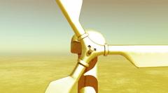 4k closeup of Windmill Turbines Clean,Green Wind Energy,new power. - stock footage