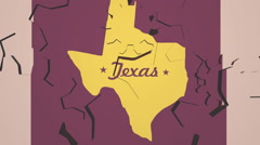 texas map on moving gears backdrop - stock footage