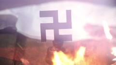 Destruction of nazi power ww2 Stock Footage