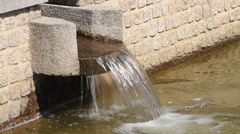 Garden decoration, design, waterfall, stone Stock Footage