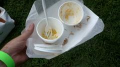 Eaten fair food Stock Footage