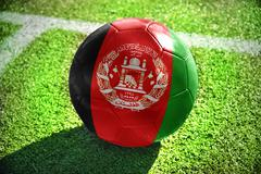 football ball with the national flag of afghanistan - stock photo