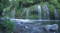Mossbrae Falls and Sacramento River (fisheye) Stock Footage