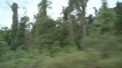 Ride through the jungles and mountains in Laos Stock Footage
