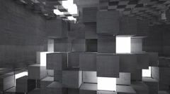 Abstract background of concrete cubes Stock Footage