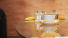 cup of cappuccino - stock footage
