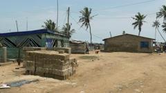 Ghana african poor village 4K Stock Footage
