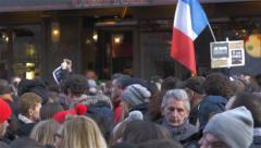 Charlie Hebdo Event In Paris Stock Footage