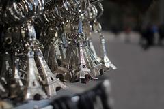Eiffel Tower souvenirs in Paris France Stock Photos