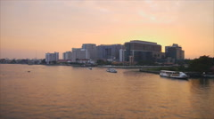 Speed video of Chaopraya river before sunset Stock Footage