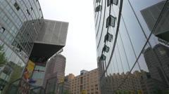 The Sony Center in Postdamer Platz, Berlin Stock Footage