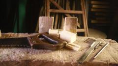 Room with work tool. Workshop repair. - stock footage