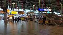 Amsterdam Schipol Airport in the Netherlands (editorial) Stock Footage
