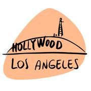 Los Angeles California USA Hollywood - stock illustration