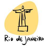 Rio de Janeiro Brazil statue of Christ Piirros