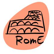 Rome the capital of Italy - stock illustration