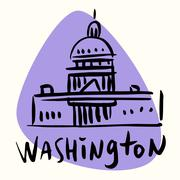 Washington capital USA - stock illustration