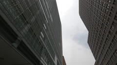 Street view of the high rise buildings of Postdamer Platz, Berlin Stock Footage