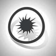 Curved burst sign icon Stock Illustration