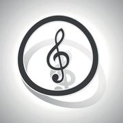 Stock Illustration of Curved music sign icon
