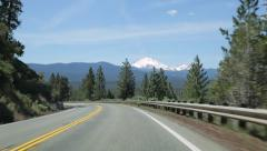 Driving towards Lassen Peak in Northern California Stock Footage