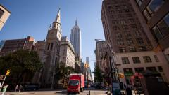 Empire State building New York City Stock Footage