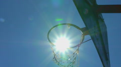 Scoring, basket ball. Slow motion Stock Footage