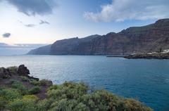 "Acantilados de Los Gigantes (""Cliffs of the Giants"") before sunrise, Tenerife Stock Photos"