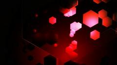 red hexa lights - stock footage