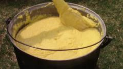 Traditional polenta cooking Stock Footage