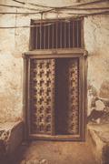 Old mysterious door Stock Photos