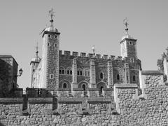 Stock Photo of Black and white Tower of London