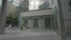 Taking pictures at the Sony Center Plaza, Berlin Stock Footage