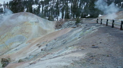 Sulphur Works, Lassen Volcanic National Park, California Stock Footage