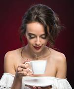 Cup of Hot Beverage - stock photo