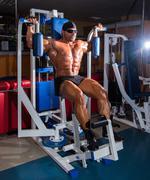 Athlete handsome bodybuilder - stock photo