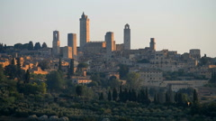 Beautiful view of the medieval town of San Gimignano, Tuscany, Italy Stock Footage