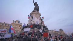 Charlie Hebdo Event In Paris (1 Part) Stock Footage