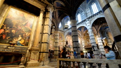 Cathedral interiors of Siena, Italy Stock Footage