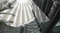 The roof dome of Sony Center Plaza, Berlin Stock Footage