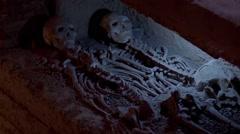 Hidden tomb ,Sympathetic, sacrificing Stock Footage