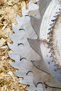 Close up of circular saw Stock Photos