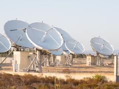 teleport satellite communications - stock photo